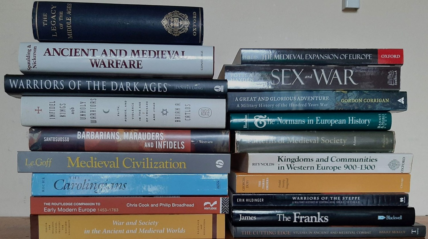 Large bundle (19vols) of academic works on Medieval Europe including works on The History of the