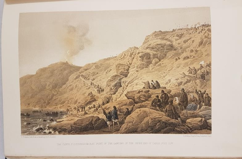 W.H. Russell. The Atlantic Telegraph. 1865. 26 tinted lithographs including 5 South Kerry views of - Image 3 of 5