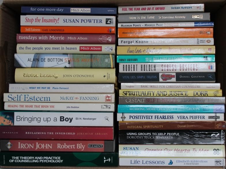 Self Help & Psychology – large box of books with many of the leading titles of the past 30 years.