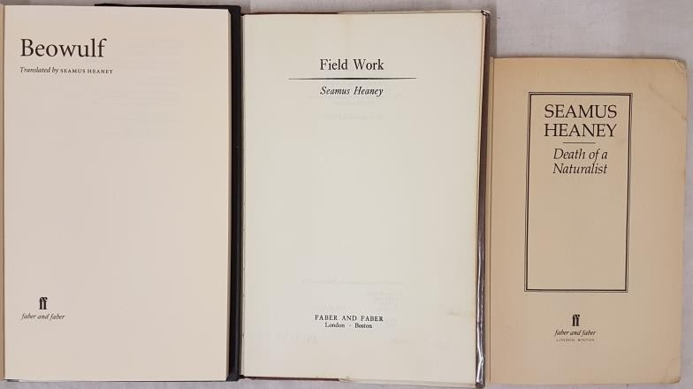 Field Work, Seamus Heaney, Faber and Faber, 1979, First Edition, in D/J, good condition. Beowulf, - Image 2 of 3