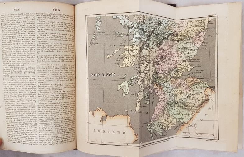 B.P. Capper. A Topographical Dictionary of the U.K. 1808. 2 volumes. Numerous hand coloured maps, - Image 4 of 6