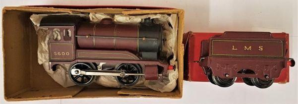 "Hornby ""0"" Gauge No.501 Locomotive (reversing) and No.501 Tender - both boxed"