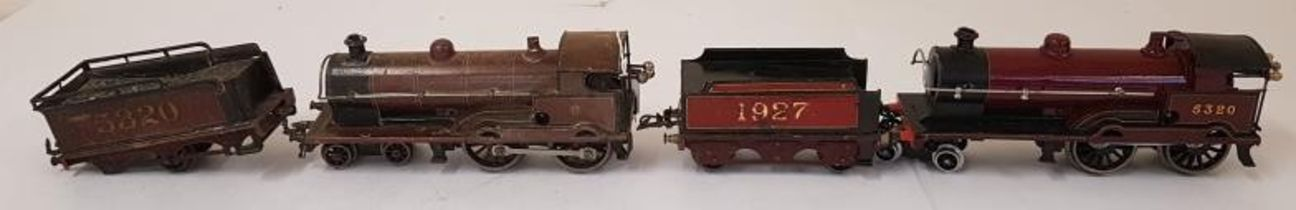 """Bassett-Lowke """"George The Fifth"""" 0-gauge Clockwork Locomotive and another (as found) with Tender"""