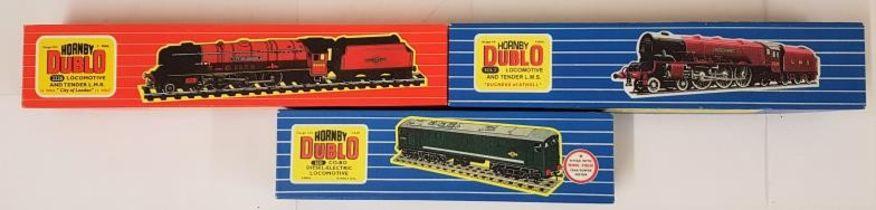 "Three Hornby Dublo 00 Gauge Model Locomotives - EDL 2 Loco & Tender L.M.S. ""Duchess of Atholl"" (2"