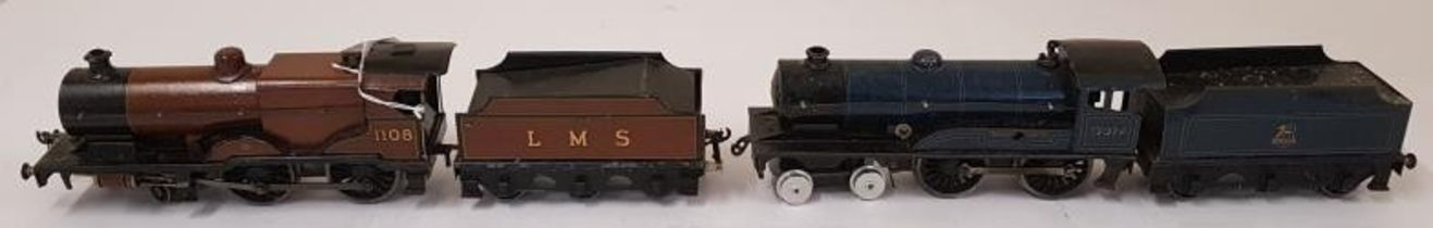 Bassett-Lowke LMS Standard Compound Electric 4-4-0 engine No.1108 and LMS tender along with a