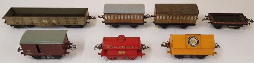 Collection of Seven Hornby Wagons including Portland Blue Circle Cement, Royal Daylight, LNER
