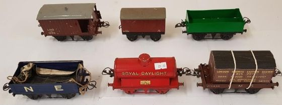 Collection of Six Hornby Wagons including NE, Royal Daylight and LNER, Door To Door Transport
