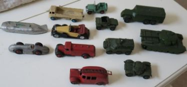 Dinky Toys; Tinplate models and Tin soldiers, early plastics models
