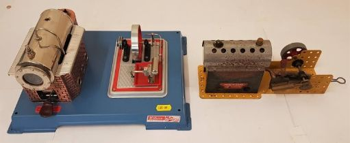 Wilesco D12 Steam Engine and a Meccano Steam Engine (2 Boxed)