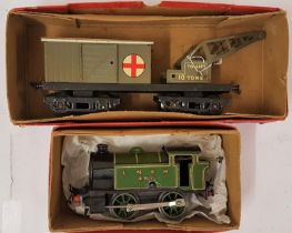 """Hornby """"0"""" Gauge No.40 Tank Locomotive (reversing) and a Breakdown Van and Crane - all boxed"""