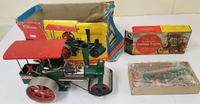 Wilesco D36 Old Smoky Steam Roller (boxed) and a Scalecraft Traction Engine
