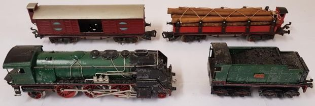 British Locomotive and 3 Carriages (4)