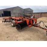 Parmiter 3m disc harrows, hydraulic transport wheels, serial no: DURD2043