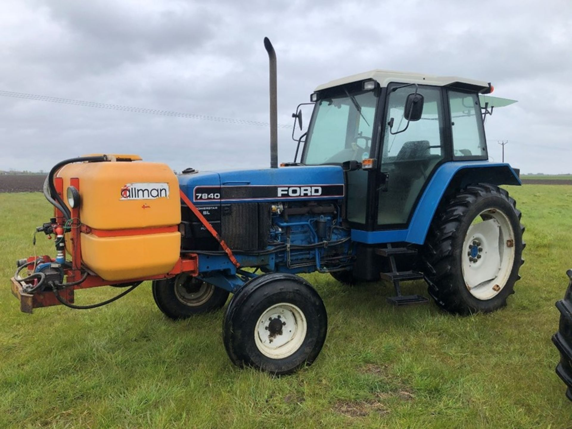 (94) Ford 7840 Powerstar SL 2wd tractor, 4,551 hours, dual power. air con, Reg L56 UVL, Rear 13.6 - Image 7 of 11