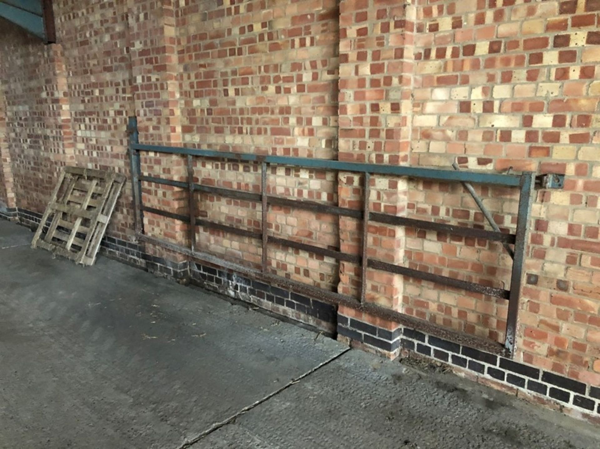 Box section livestock gate (sold in situ, buyer to dismantle)