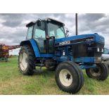 (94) Ford 7840 Powerstar SL 2wd tractor, 4,551 hours, dual power. air con, Reg L56 UVL, Rear 13.6