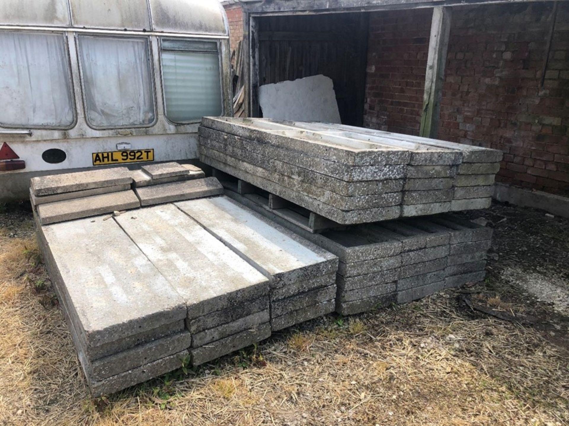 2m x 40cm concrete panels