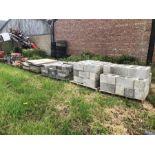 6 pallets of blocks, slabs & building materials