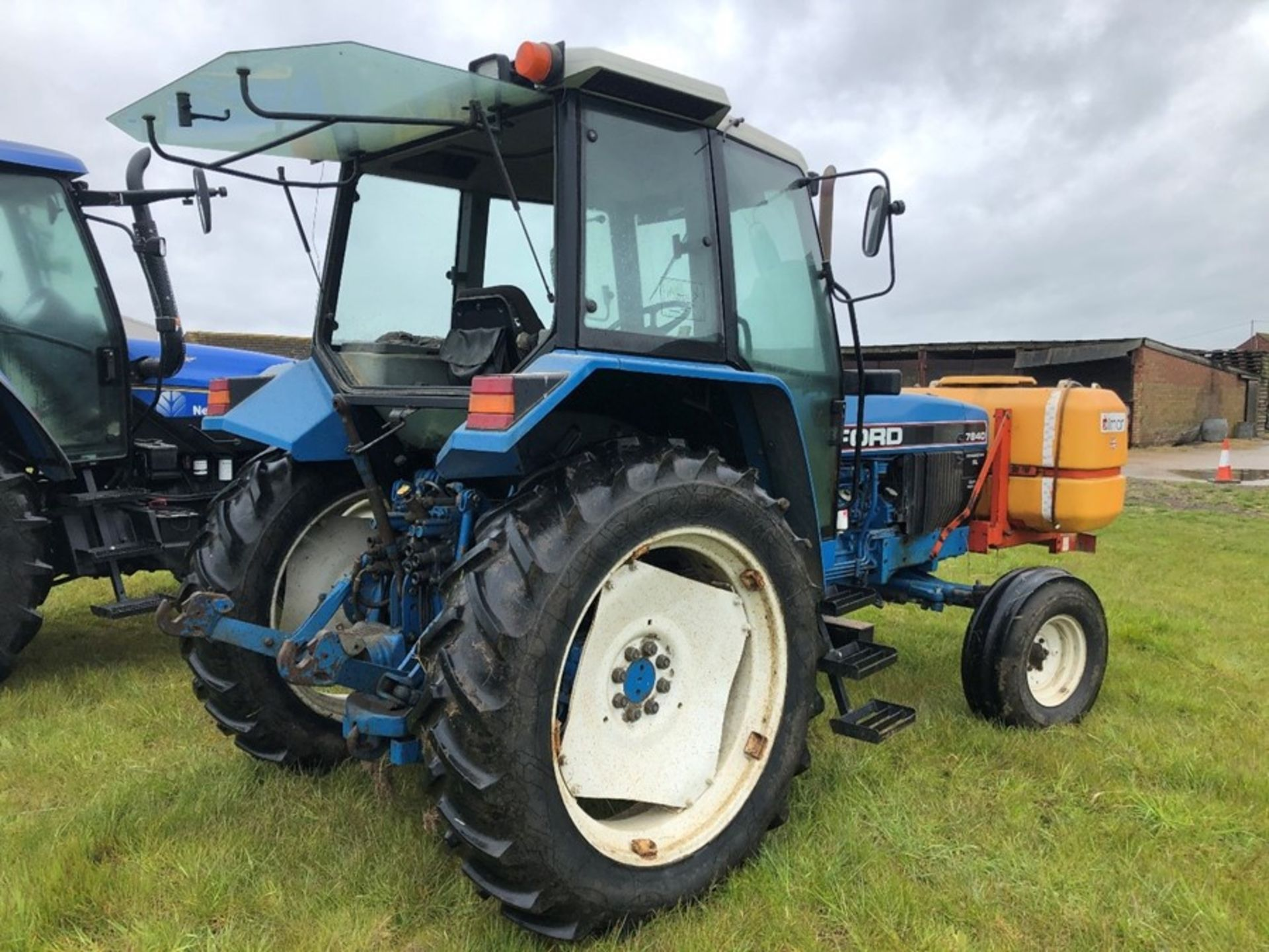 (94) Ford 7840 Powerstar SL 2wd tractor, 4,551 hours, dual power. air con, Reg L56 UVL, Rear 13.6 - Image 9 of 11