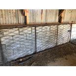 12ft metal fishnet gate