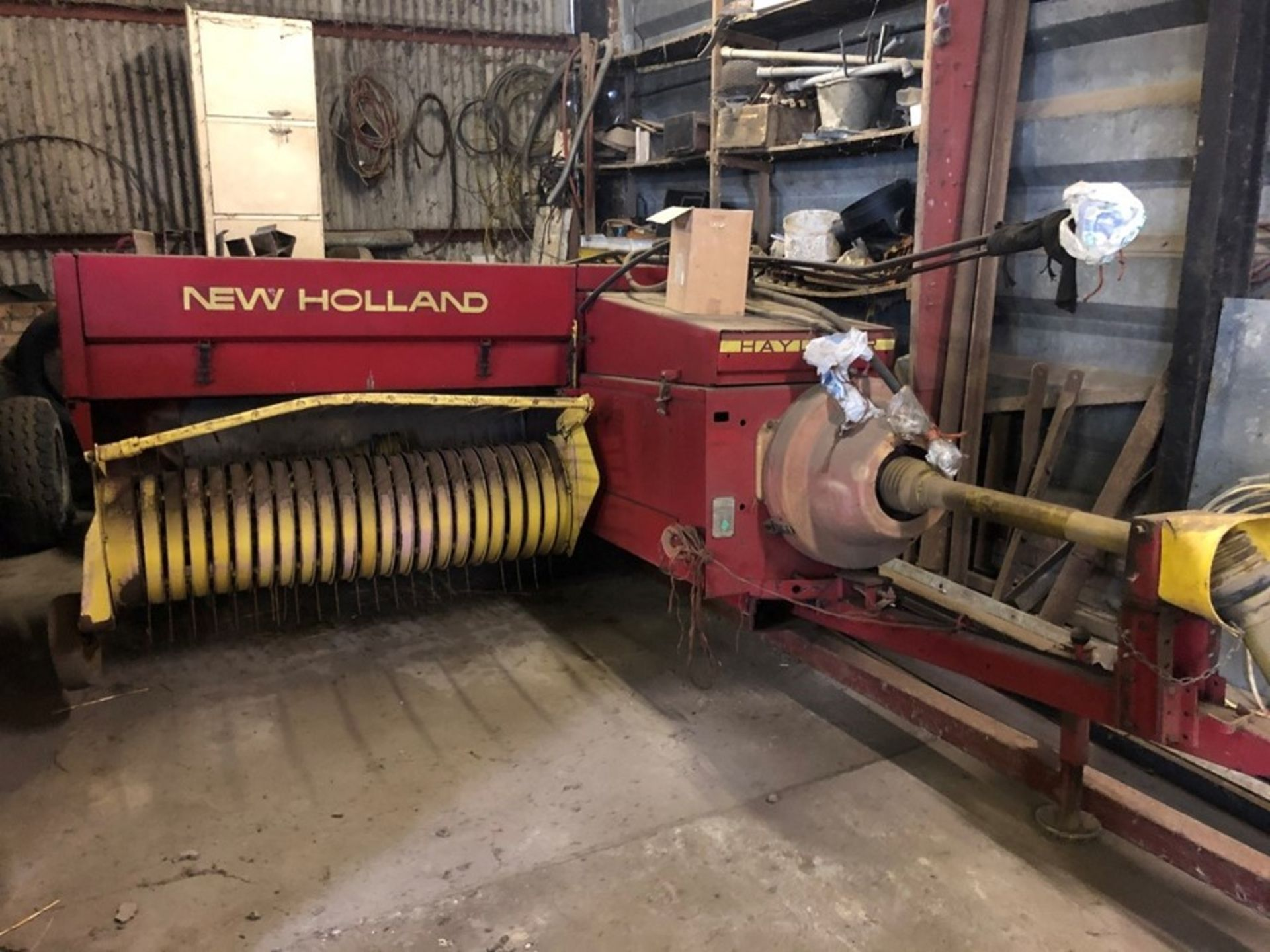 New Holland 376 Hayliner conventional baler, 5ft intake, serial no: 8376W10087, manual in office