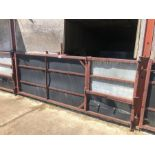 Approx 10ft box section livestock gate (sold in situ, buyer to dismantle)