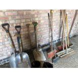 Qty shovels and brushes