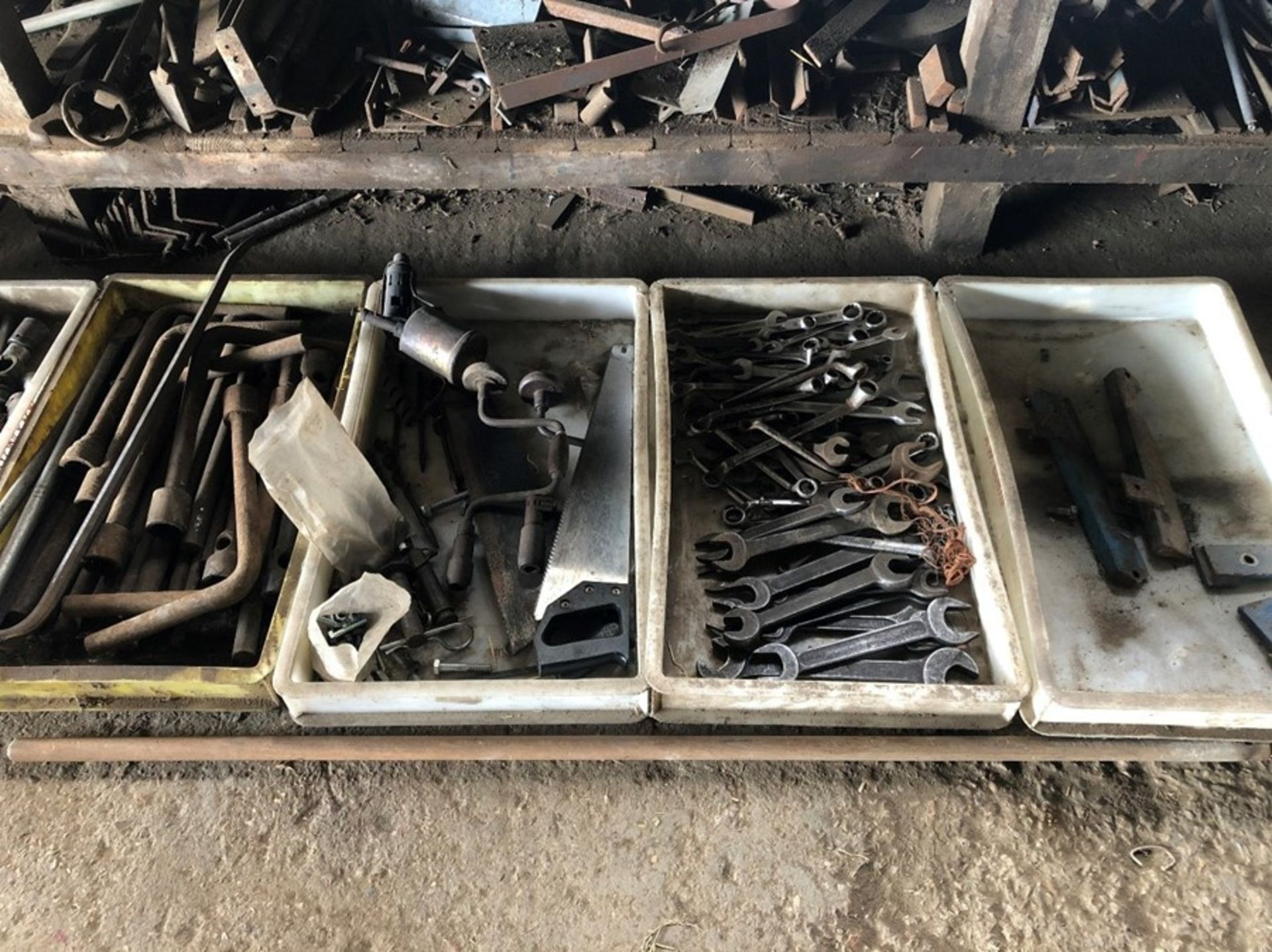 3 trays of tools and spanners - Image 2 of 2