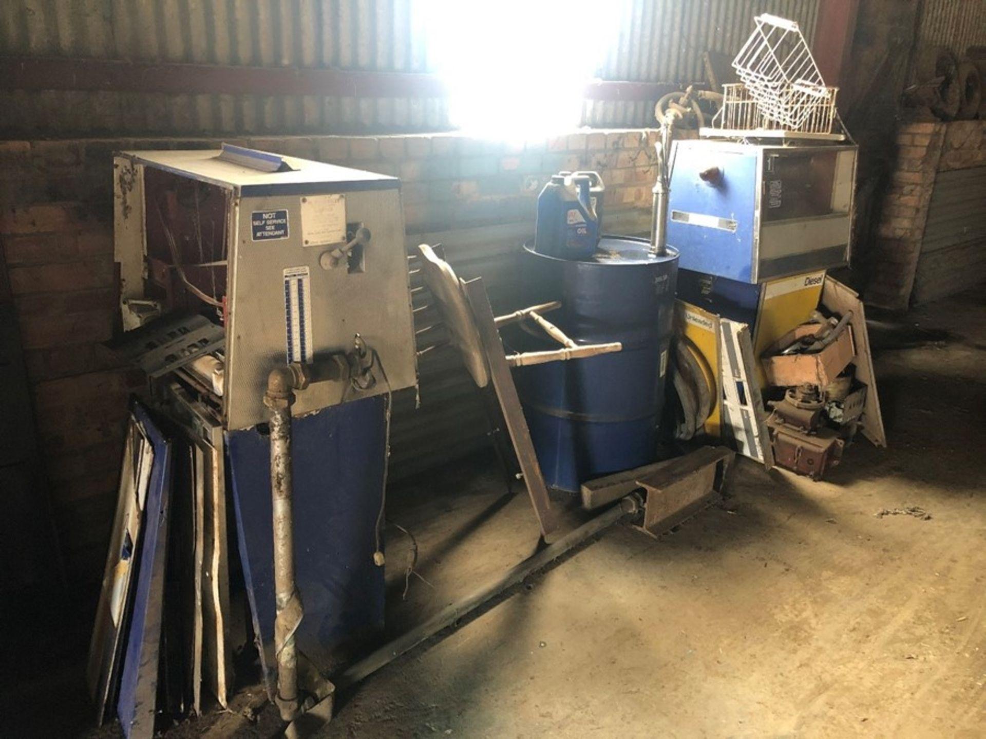 2 x fuel dispensing pumps