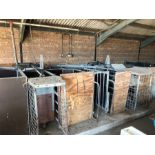 Twin bay Quality Equipment galvanised automatic sow feeders (sold in situ, buyer to dismantle)