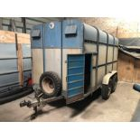 Sinclair Cattle Drover 12ft twin axle livestock trailer with spare wheel, over run brakes,