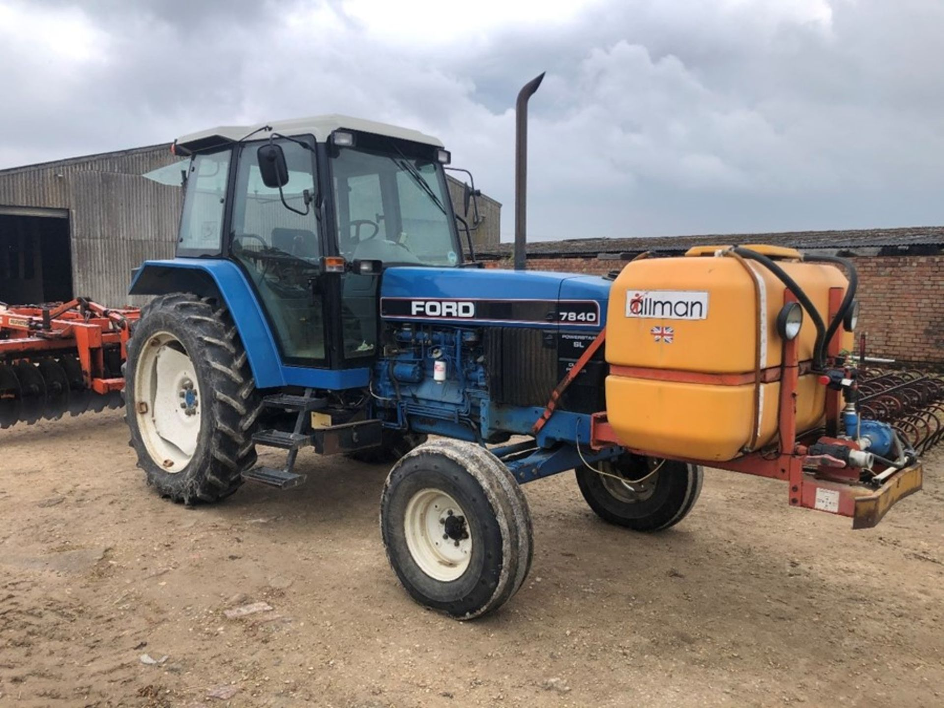 (94) Ford 7840 Powerstar SL 2wd tractor, 4,551 hours, dual power. air con, Reg L56 UVL, Rear 13.6 - Image 8 of 11