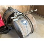 Pair stock dual wheel rims & clamps