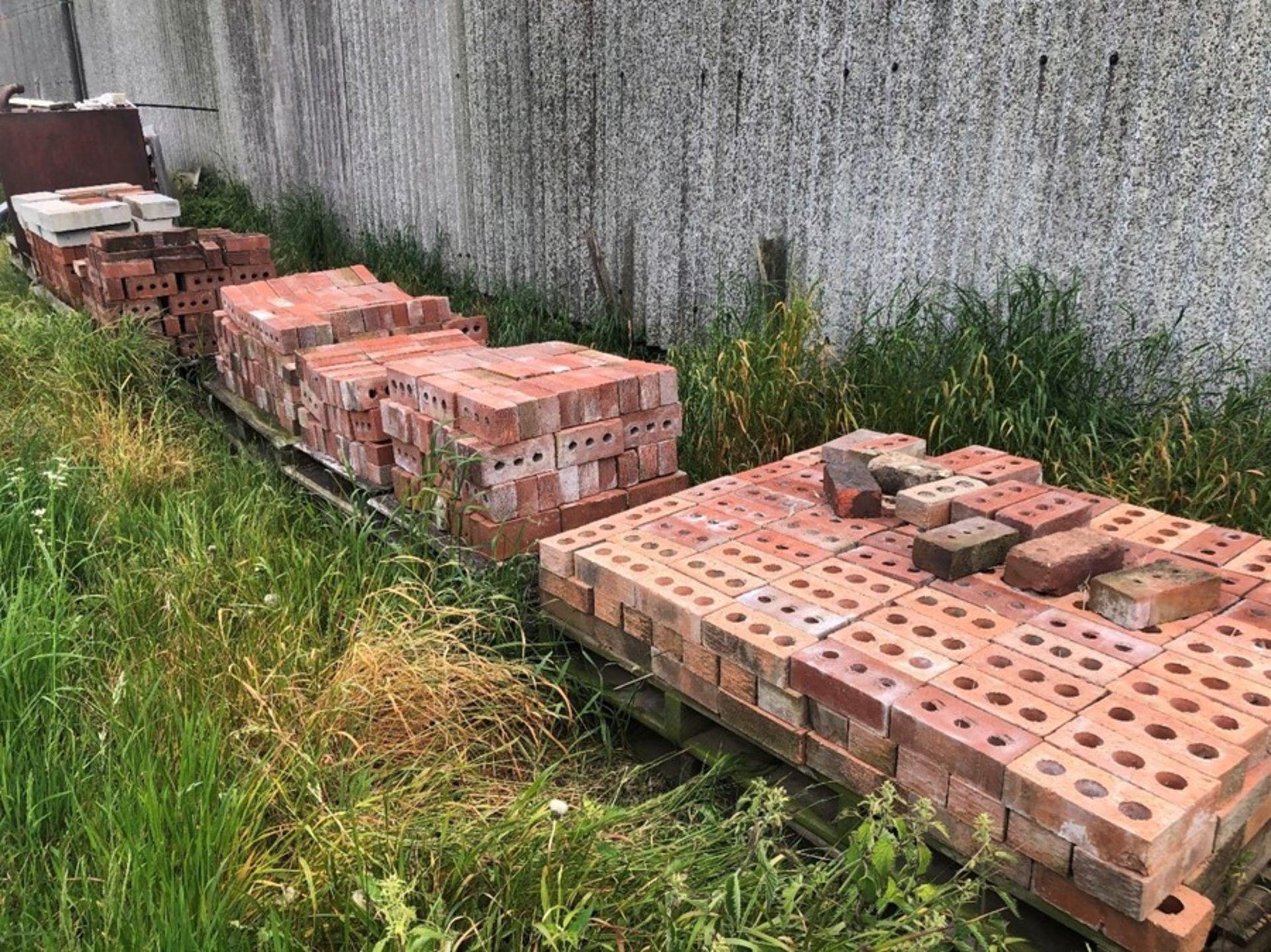 7 pallets of bricks