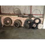 Qty various wheels & tyres