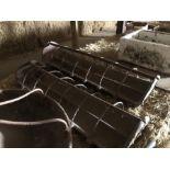 2 x cast iron pig troughs