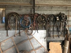 Qty air lines, suzies and hydraulic hoses