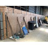 "8 wooden ""L"" shaped grain wall panels"