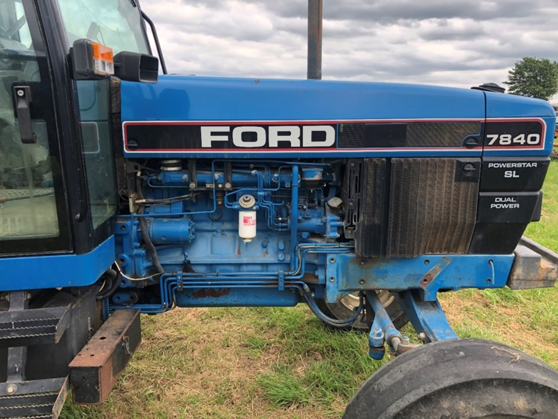 (94) Ford 7840 Powerstar SL 2wd tractor, 4,551 hours, dual power. air con, Reg L56 UVL, Rear 13.6 - Image 2 of 11