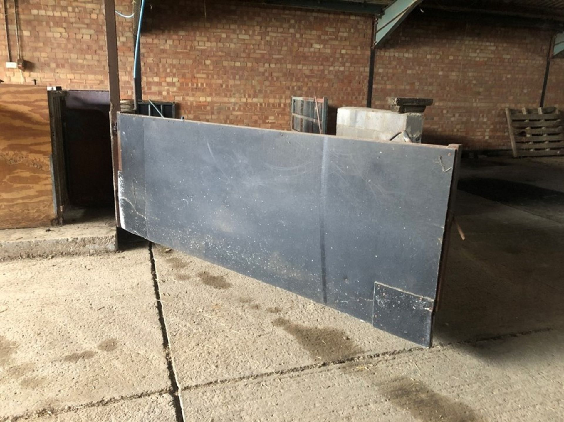 10ft box section livestock gate (sold in situ, buyer to dismantle)