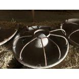 Cast iron Mexican hat pig trough