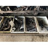 3 trays of tools and spanners