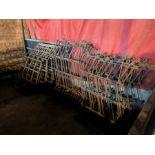 Set of harrows with stretcher pole