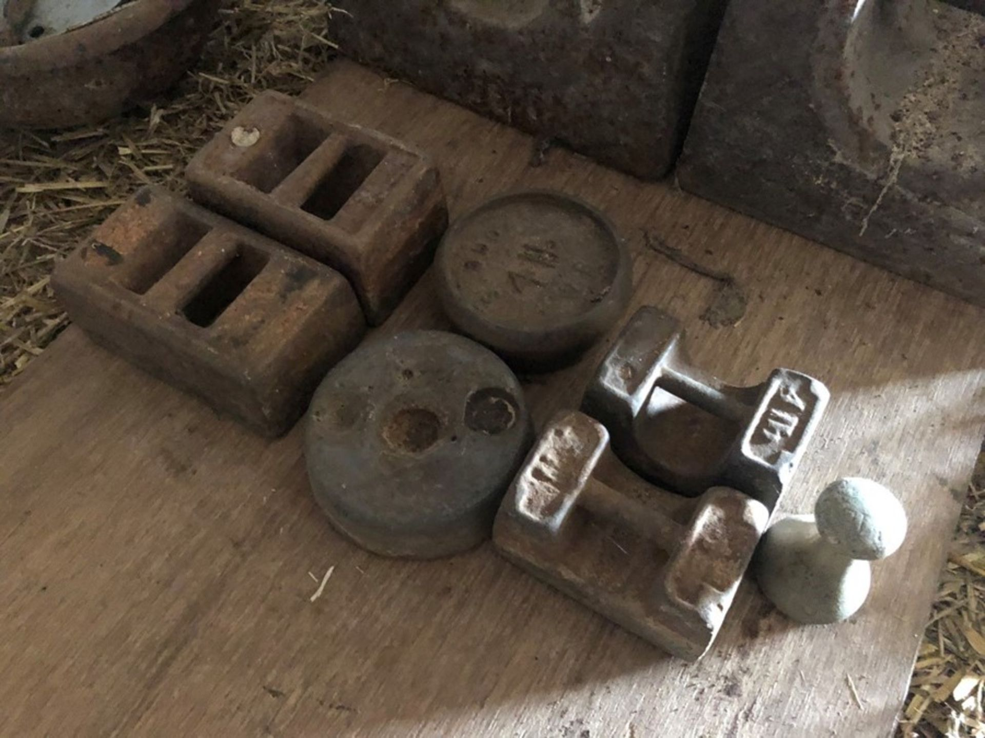 7 small weights