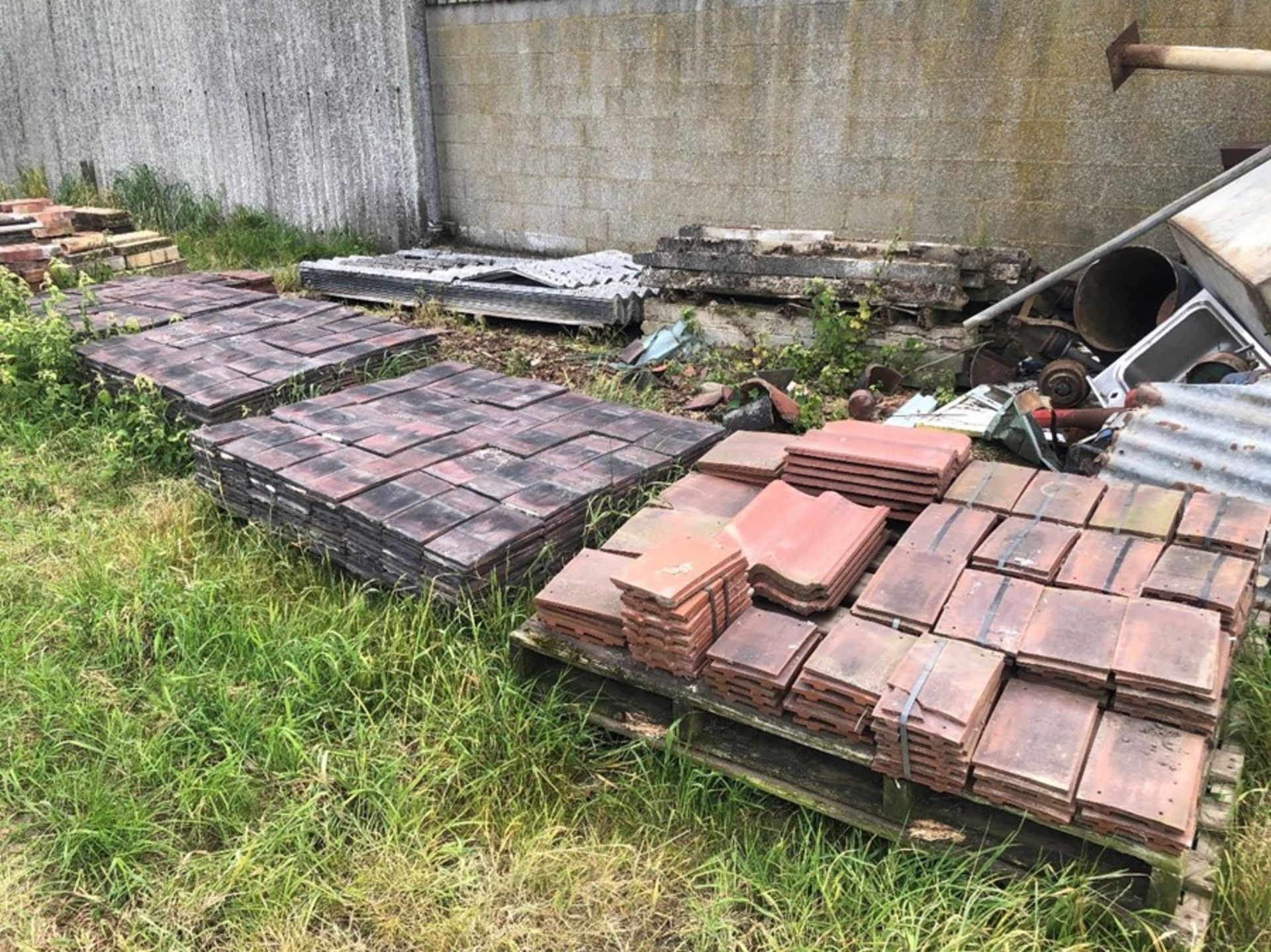 6 pallets of roofing tiles