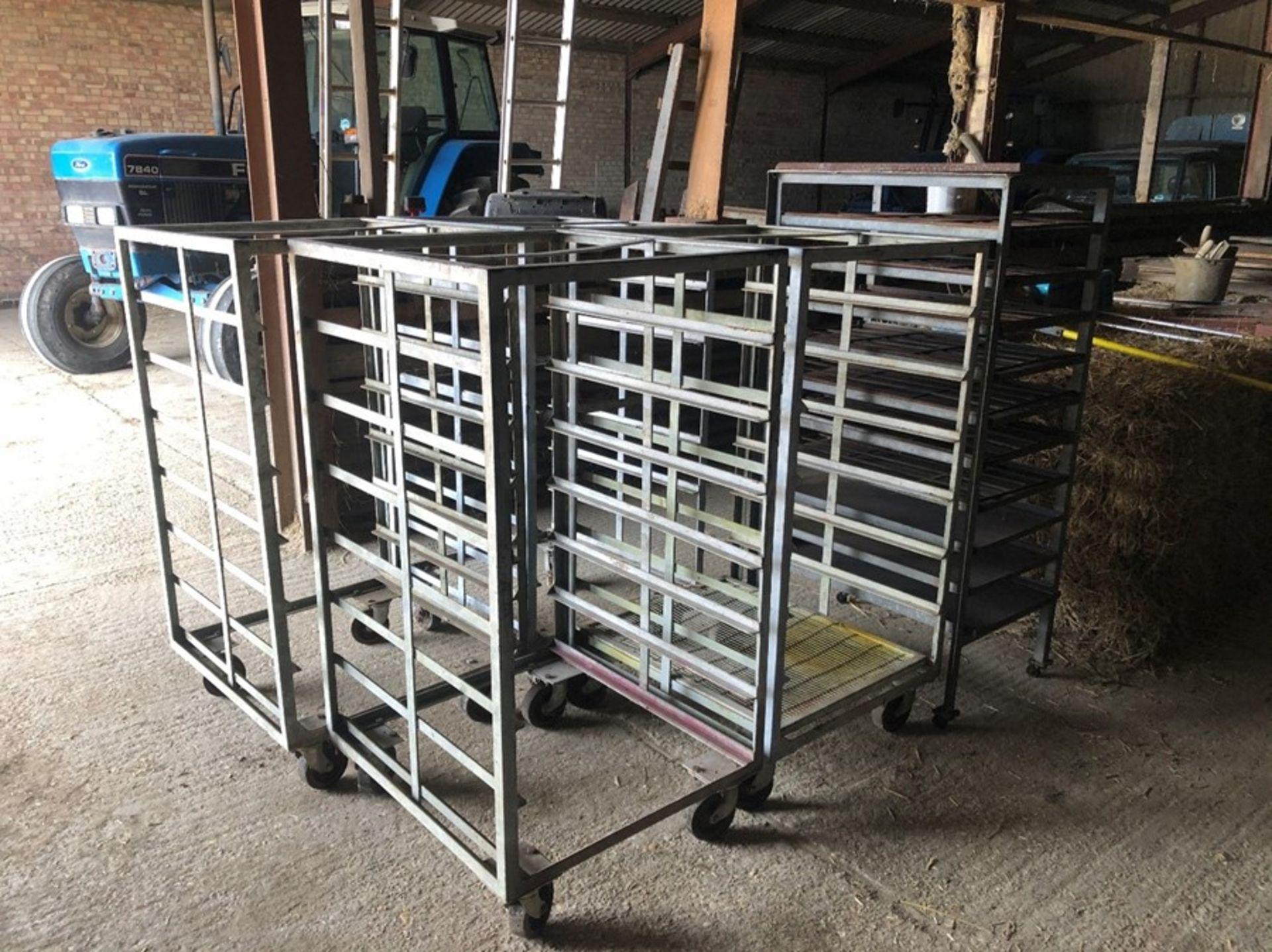5 x nursery trolleys