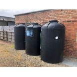 3 x 1500lt ex orange juice plastic water barrels