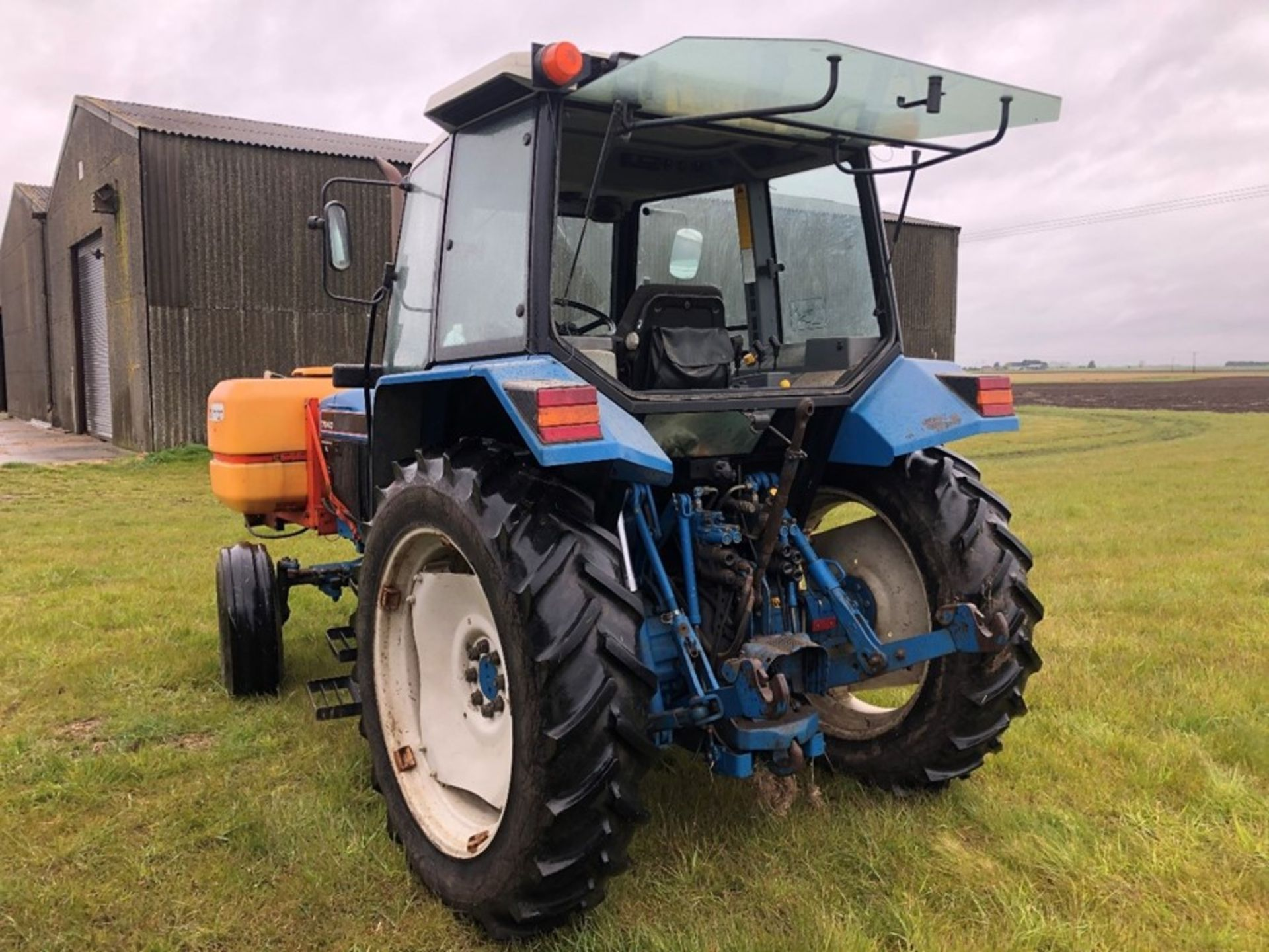 (94) Ford 7840 Powerstar SL 2wd tractor, 4,551 hours, dual power. air con, Reg L56 UVL, Rear 13.6 - Image 10 of 11