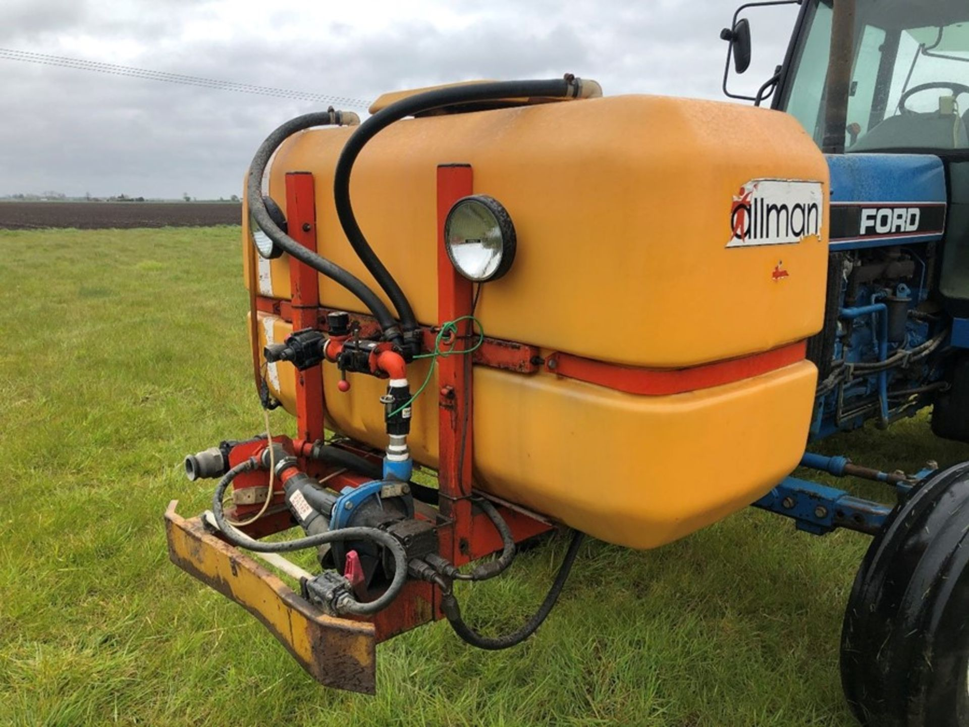 Allman Unibuilt 20m mounted sprayer, 1000lt tank with Allman front tank, not NSTS tested, manual - Image 2 of 2