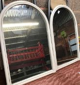 2 ARCHED MIRRORS WITH WOODEN FRAMES